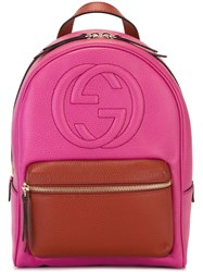 Gucci 'Soho' Backpack Pink And Purple