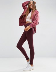 Asos High Waisted Leggings In Oxblood Oxblood Red