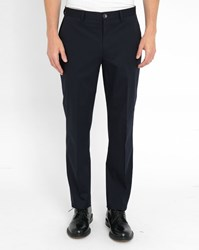 Paul Smith Navy Tapered Cotton Stretch Chinos Blue