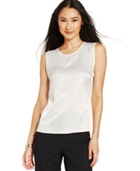 Kasper Sleeveless Suiting Top Ivory