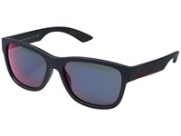 Prada Linea Rossa 0Ps 03Qs Shot Grey Rubber Dark Grey Mirror Fashion Sunglasses Gray
