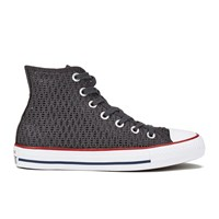 Converse Women's Chuck Taylor All Star Crochet Hi Top Trainers Almost Black White