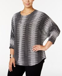 Alfani Plus Size Richly Textured Dolman Sleeve Top Only At Macy's Dot