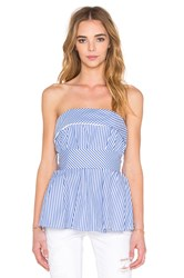 Finders Keepers Blow Your Mind Bustier Top Blue