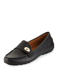 Coach Flash Leather Loafer Black