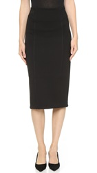 Alexander Wang Double Knit Ponte Skirt Black