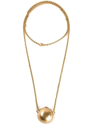 Gerard Yosca Half Sphere Necklace Metallic