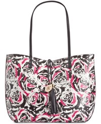 Inc International Concepts Kyli Reversible Extra Large Tote Only At Macy's Pink Floral Black