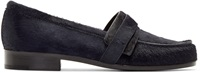 Carritz Navy Calf Hair Loafers