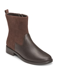 Aerosoles Make A Wish Faux Leather Booties Dark Brown Leather
