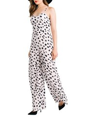 Kendall Kylie Wide Leg Jumpsuit Black White