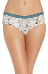 Chelsea 28 Women's Chelsea28 Hipster Panty Ivory Egret Painted Bouquet