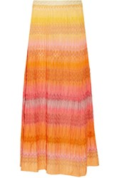 Missoni Crochet Knit Maxi Skirt Multi