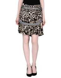 Just Cavalli Knee Length Skirts Beige