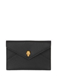 Alexander Mcqueen Grained Leather Business Card Holder
