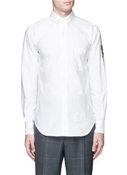 Thom Browne 'Hector' Crest Embroidery Oxford Shirt White