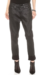 Ag Adriano Goldschmied The Beau Slouchy Skinny Jeans Leatherette Super Black