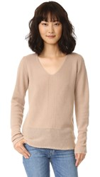 Tse Cashmere Long Sleeve V Neck Sweater Cosmic Dust