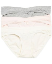 Motherhood Maternity Hipster Briefs 3 Pack Pink Grey Cream