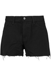 J Brand Cut Off Denim Shorts Black
