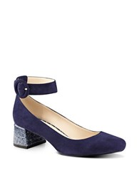 Nine West Pianobar Suede Pumps Navy Blue