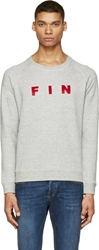 Band Of Outsiders Heather Grey And Red Fin Sweatshirt