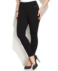Calvin Klein Plus Size Pull On Skinny Compression Pants Black