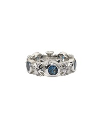 Elizabeth Showers London Blue Topaz Maltese Eternity Ring