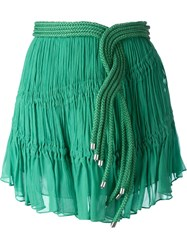 Jay Ahr Rope Detail Mini Skirt Green