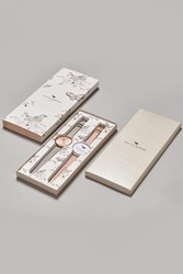 Topshop Olivia Burton Big Dial Dusty Pink And Grey Gift Set Mixed Metal