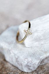 Zoe Chicco Diamond Cross Ring