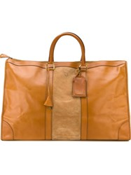 Christian Dior Vintage Oversized Holdall Brown