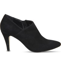 Office Quirky Suede Shoe Boots Black Suede