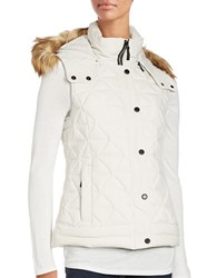Marc New York Faux Fur Trimmed Hooded Puffer Vest Snow