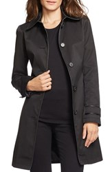 Petite Women's Lauren Ralph Lauren Faux Leather Trim Trench Coat