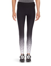 Calvin Klein Ruched Cuff Performance Leggings Black Combo