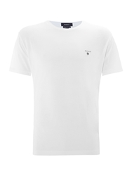 Gant Short Sleeve Crew T Shirt White