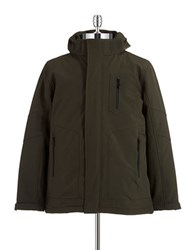 Hawke And Co Water Resistant 3 In 1 Jacket Green
