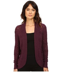 Roxy Mountain Of Love Cardigan Italian Plum Women's Sweater Brown
