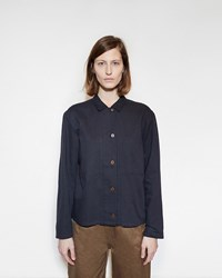 Mhl By Margaret Howell Square Placket Shirt Black