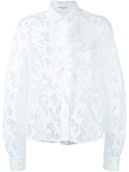 Sonia Rykiel Floral Lace Shirt White
