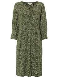 White Stuff Kindling Jersey Dress Spinach Green