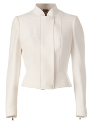 Alexander Mcqueen Stand Up Collar Jacket White