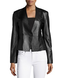 Neiman Marcus Leather One Button Jacket