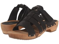 Sanita Fatu Round Flex Sandal Black Women's Sandals