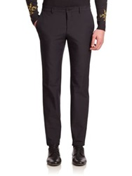 Versace Leather Pocket Scuba Pants Black