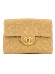 Chanel Vintage Quilted Backpack Nude And Neutrals