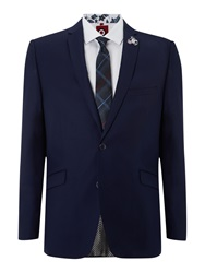 Lambretta Plain Notch Collar Suit Blue