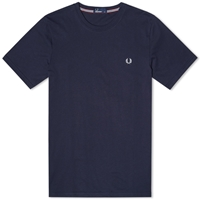 Fred Perry New Classic Crew Neck Tee Navy