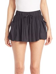 Ramy Brook Austin Flowy Shorts Black